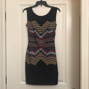 bebe geo-print dress
